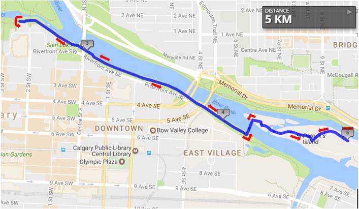 5K Walk/Run route map