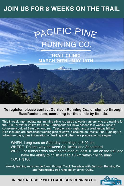 Trail Clinic March 24 – May 19