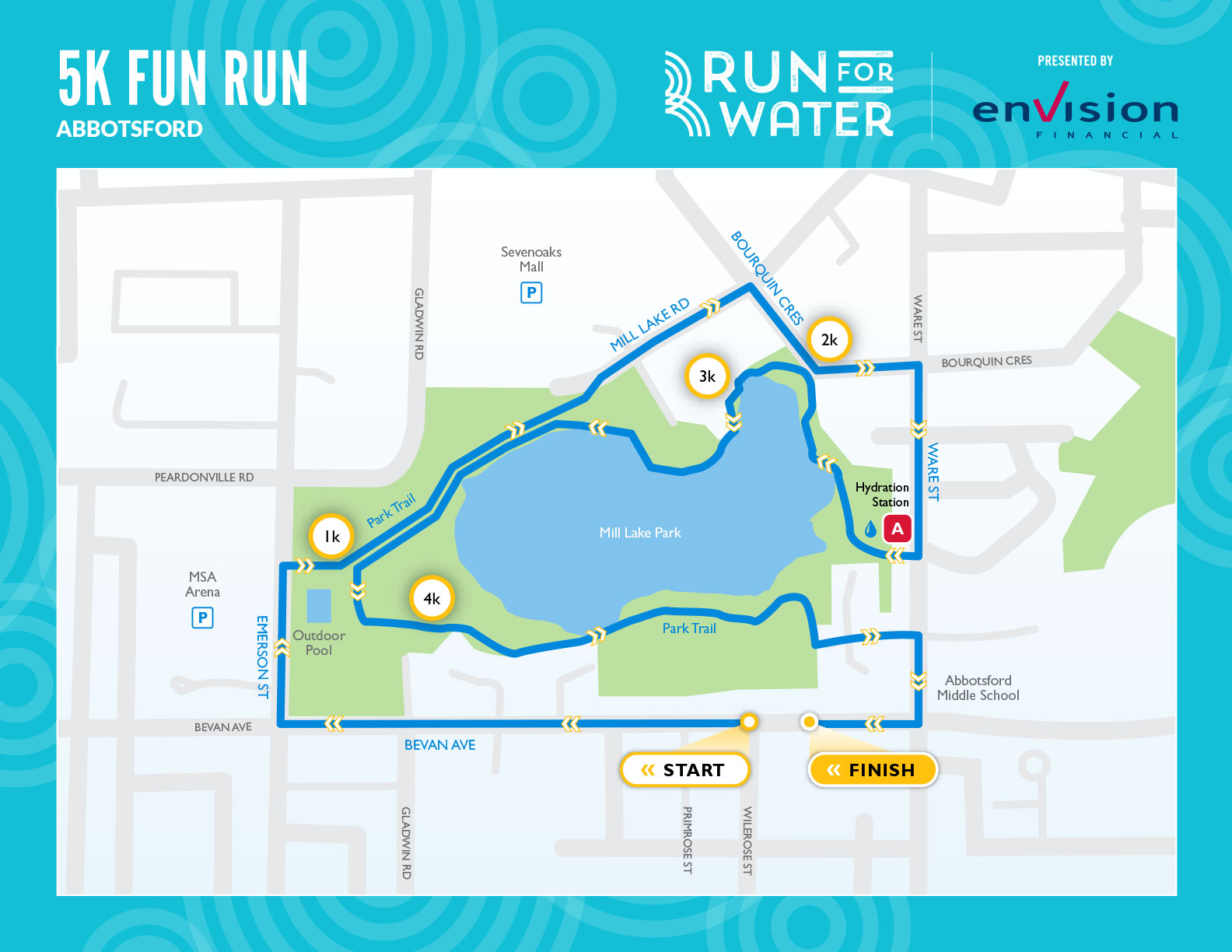 5K Fun Run route map
