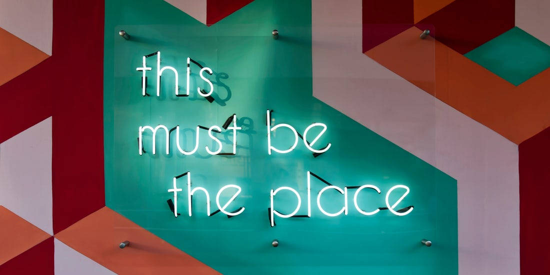 this must be the place - neon wall sign