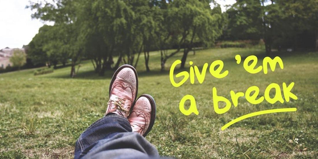 Give 'em a break - encouraging employees to take time off hero image