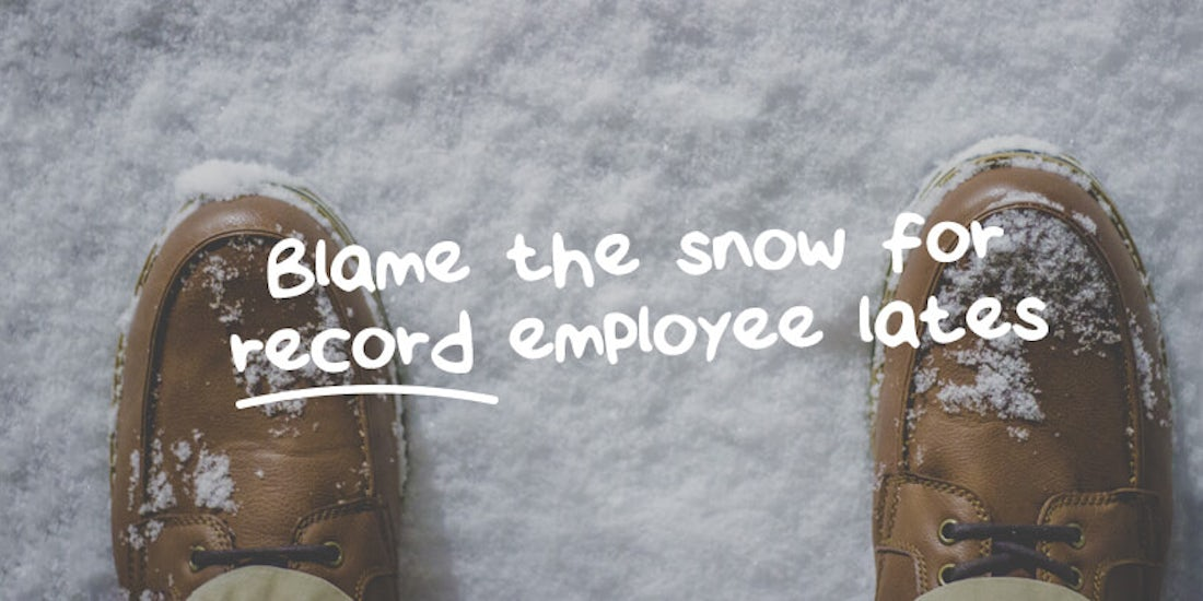Blame the snow for record employee lateness for 2017 hero image