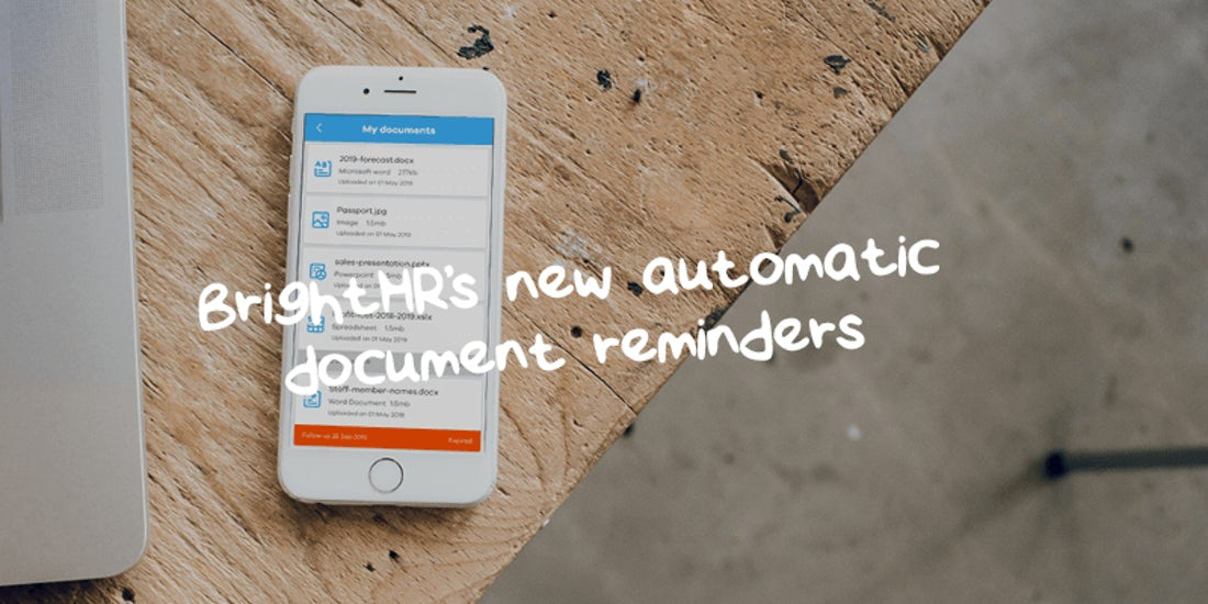 Just released: BrightHR's new automatic document reminders hero image
