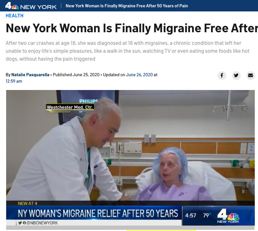 New York Woman Is Finally Migraine Free After 50 Years of Pain