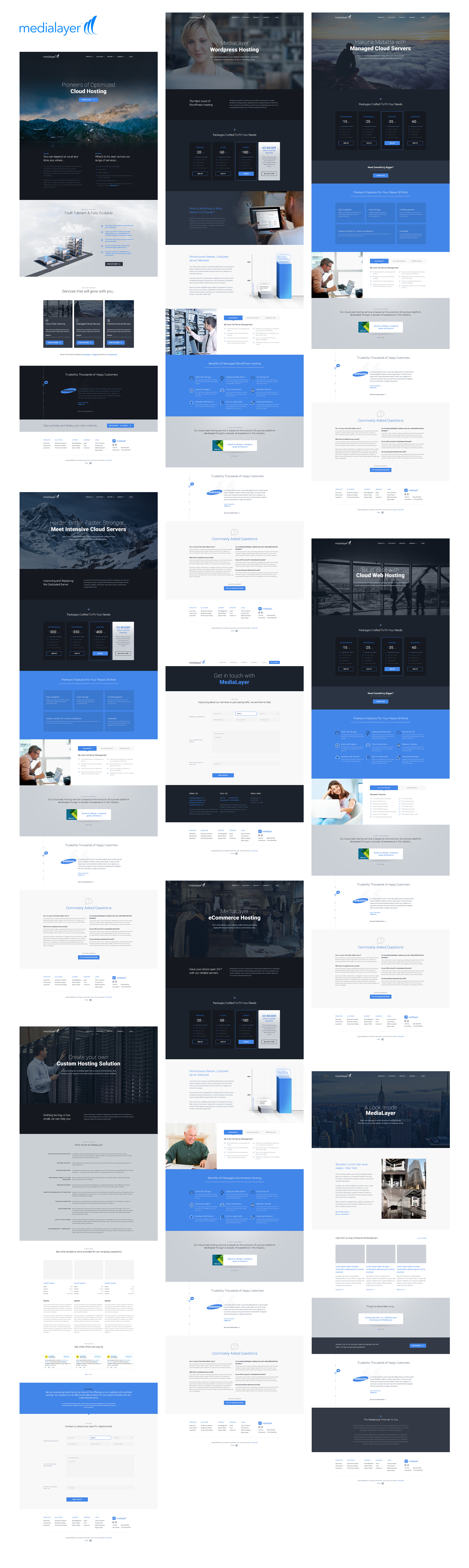 Most pages that I designed for MediaLayer