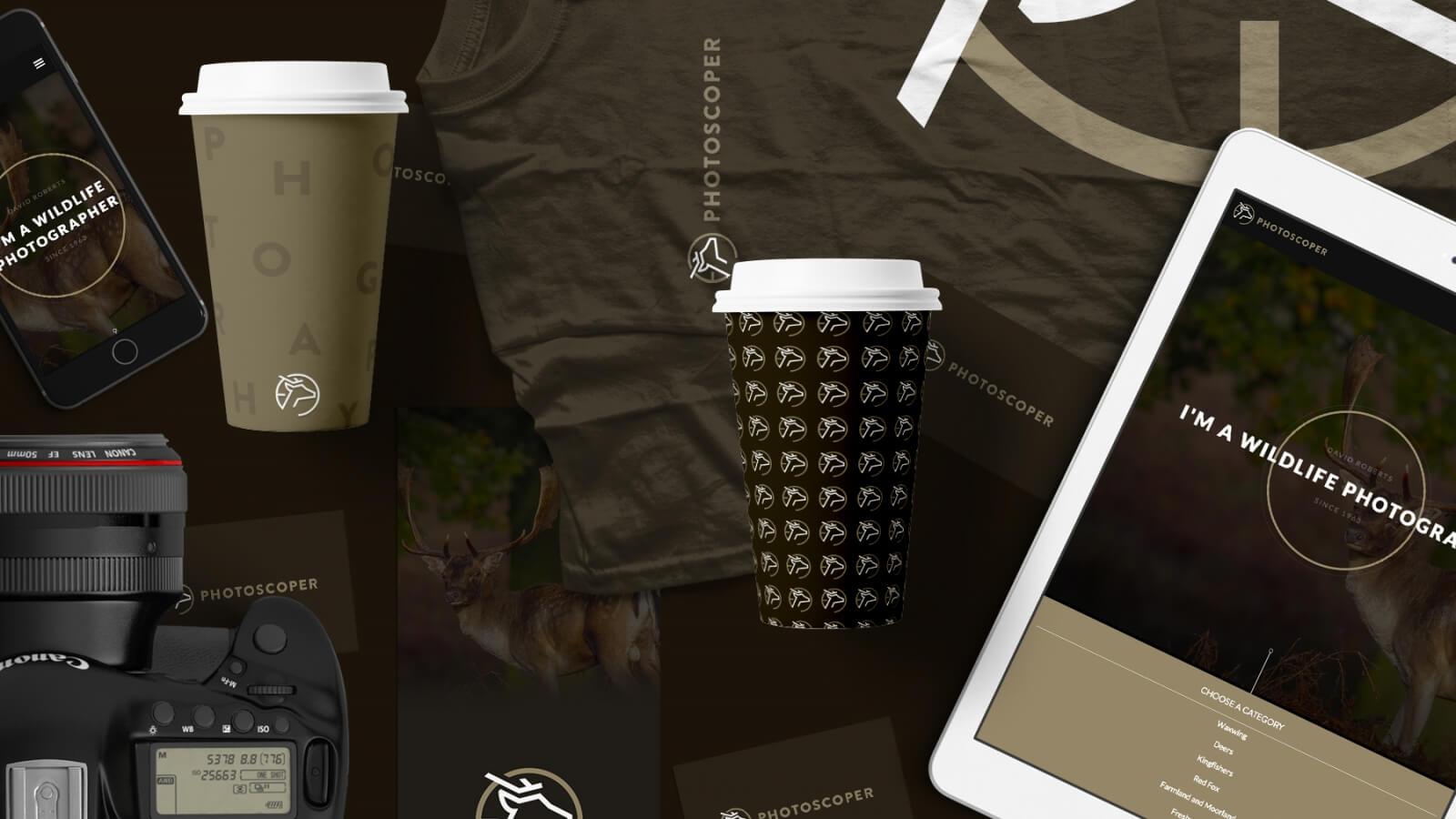 Photoscoper branding, identity and print