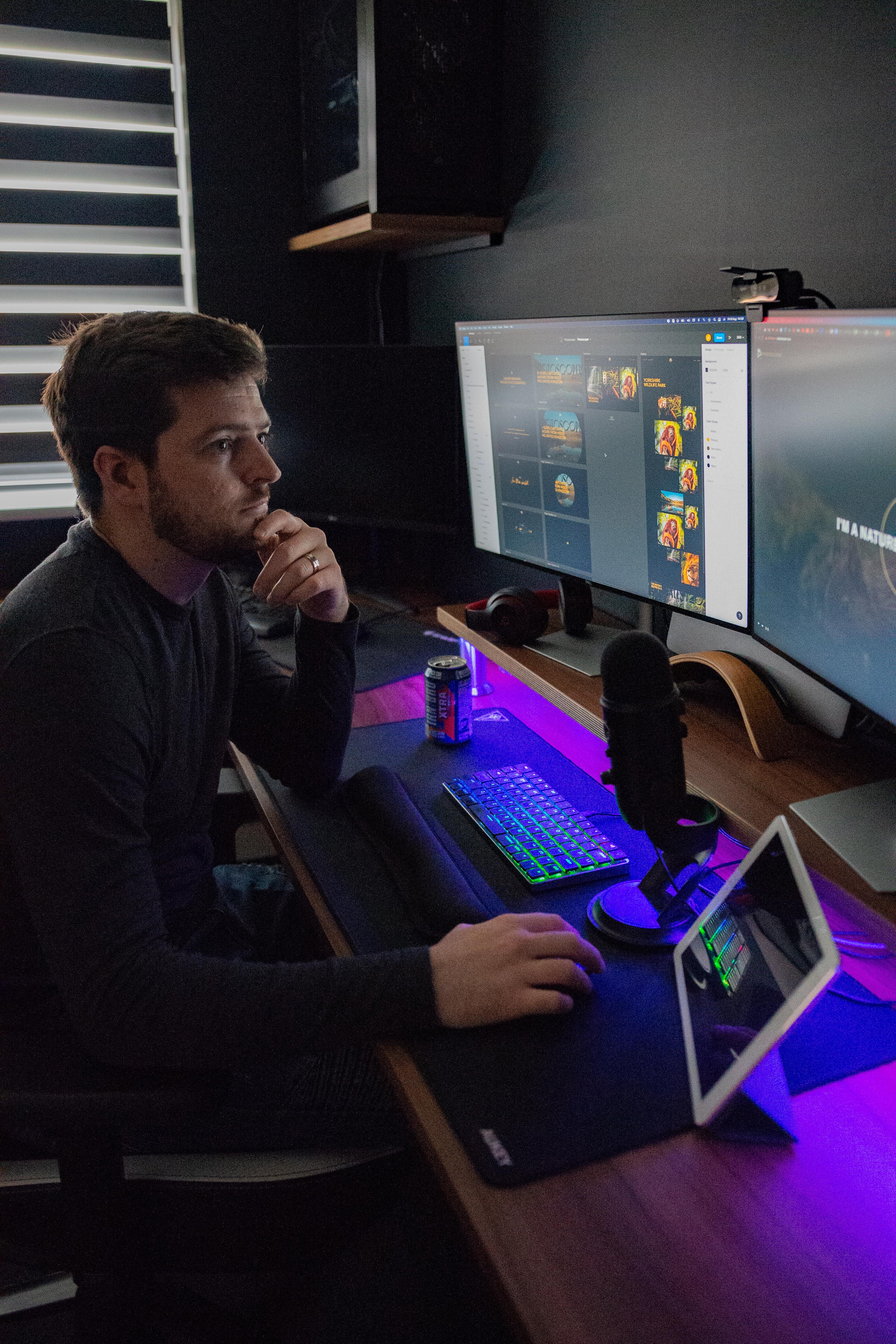 Adam Roberts in his designer habitat