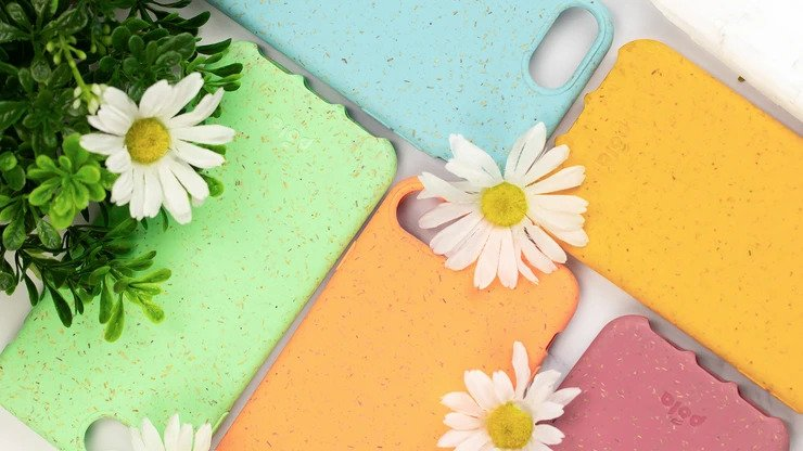 Slim biodegradable, eco-friendly Pela phone cases