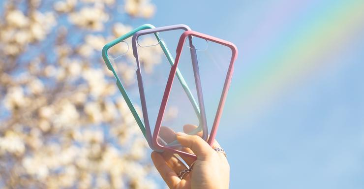 Clear biodegradable, eco-friendly Pela phone cases