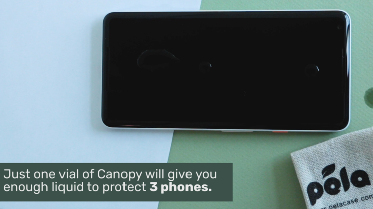 One Canopy vial can protect three phones