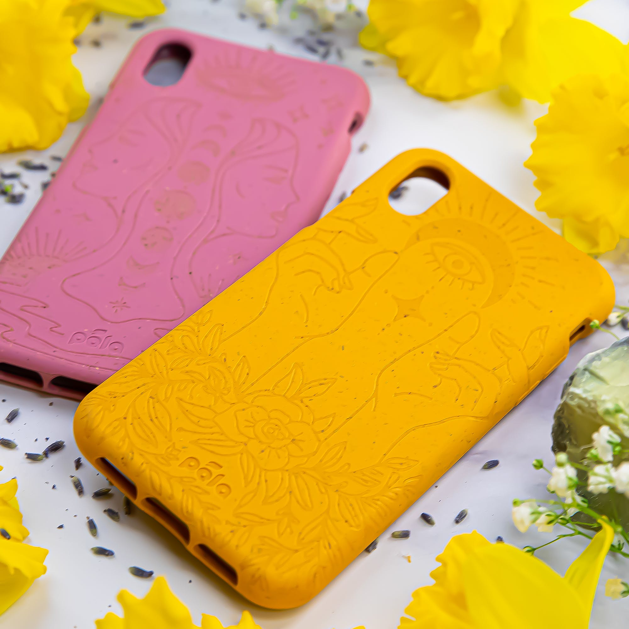 Rise and Reflect biodegradable, eco-friendly Pela phone cases
