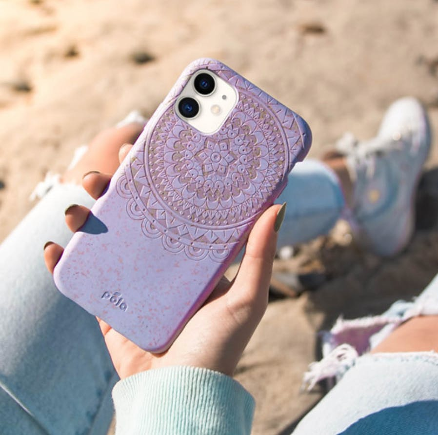 Mandala biodegradable, eco-friendly Pela phone case