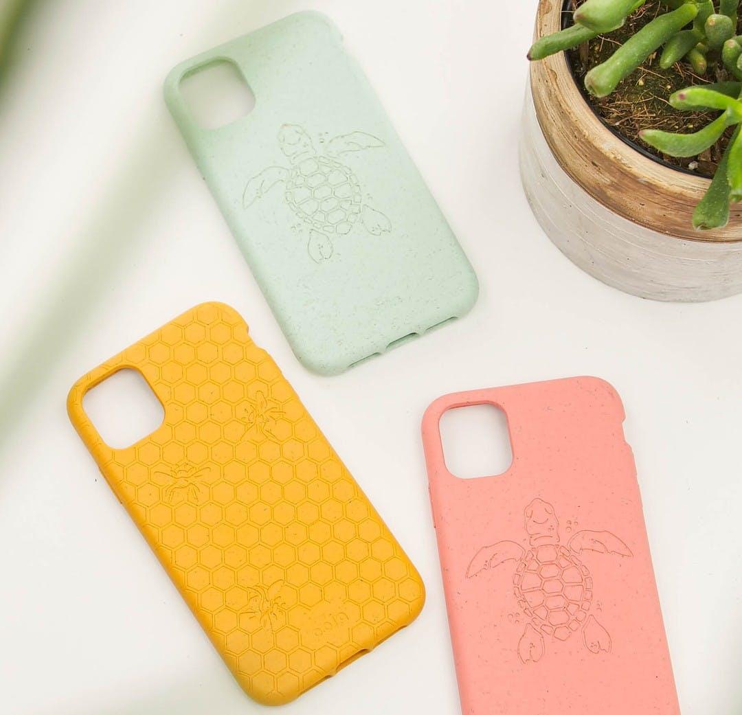 Biodegradable, eco-friendly Pela phone cases