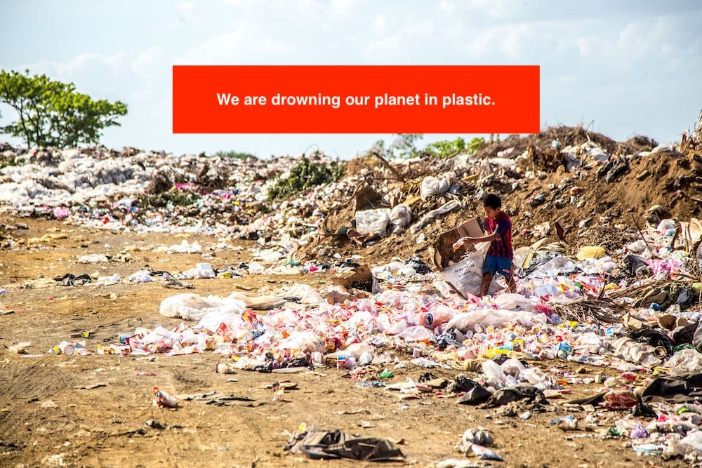 We are drowning our planet in plastic