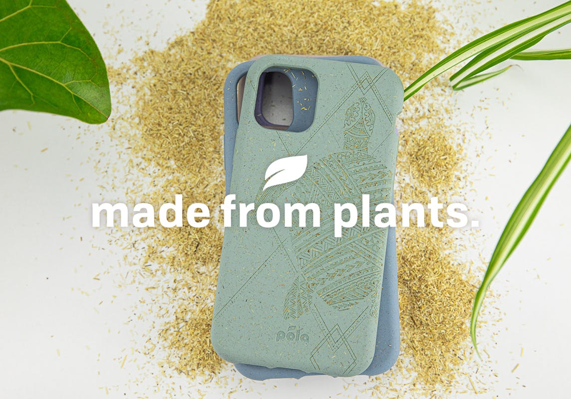 Pela cases made from plants