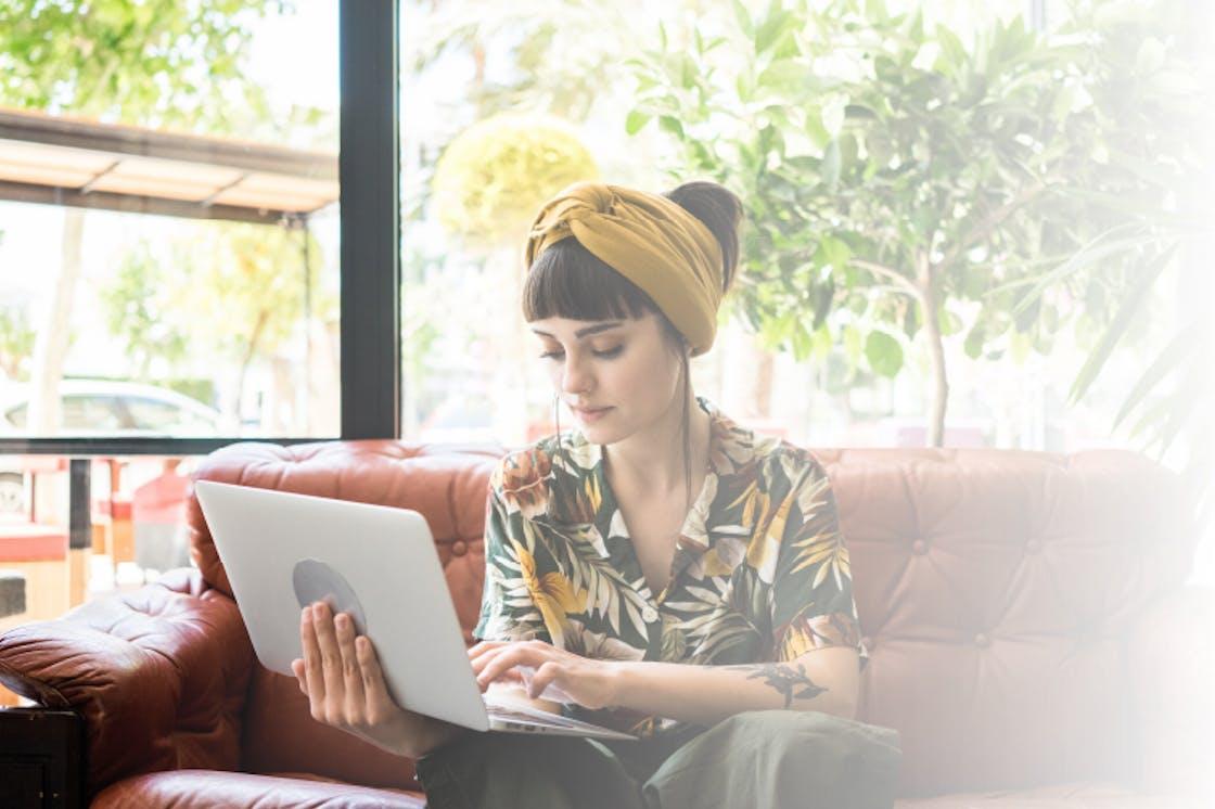Pela Ambassador women using laptop