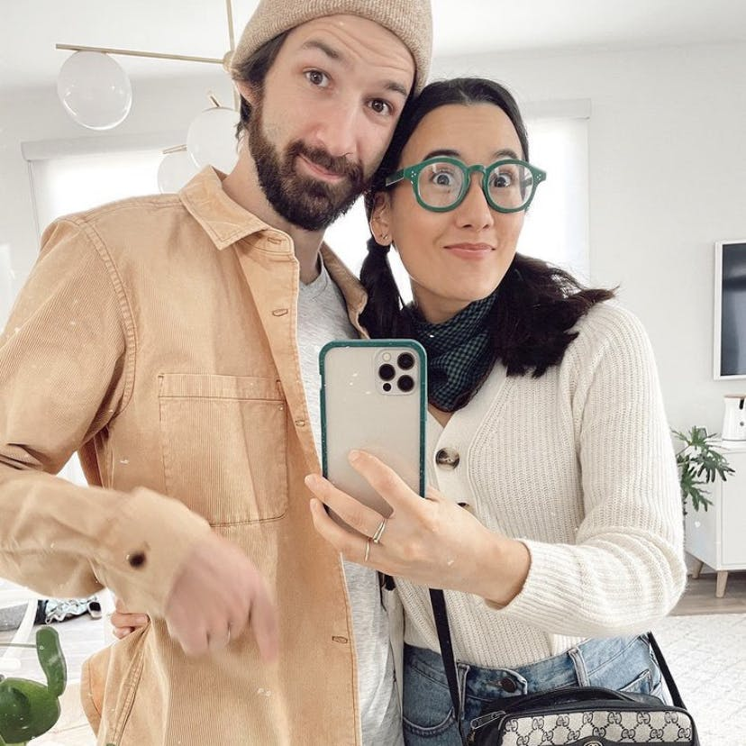 Couple with biodegradable eco-friendly Pela phone case