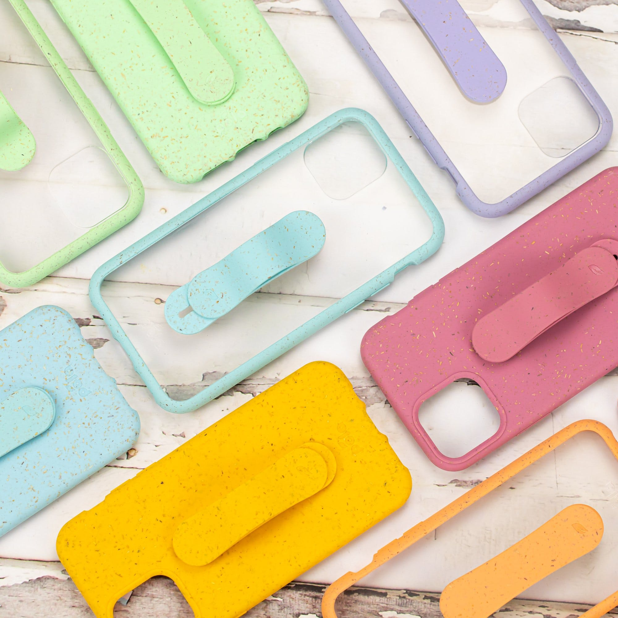 Biodegradable eco-friendly Pela Grip phone grips