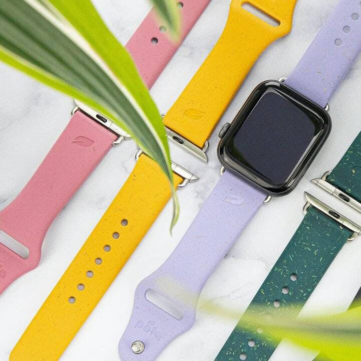 Biodegradable eco-friendly Pela Vine smart watch straps