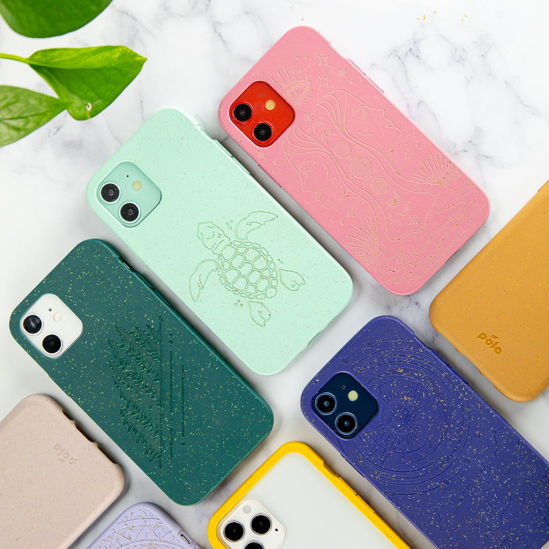 Biodegradable eco-friendly Pela phone cases