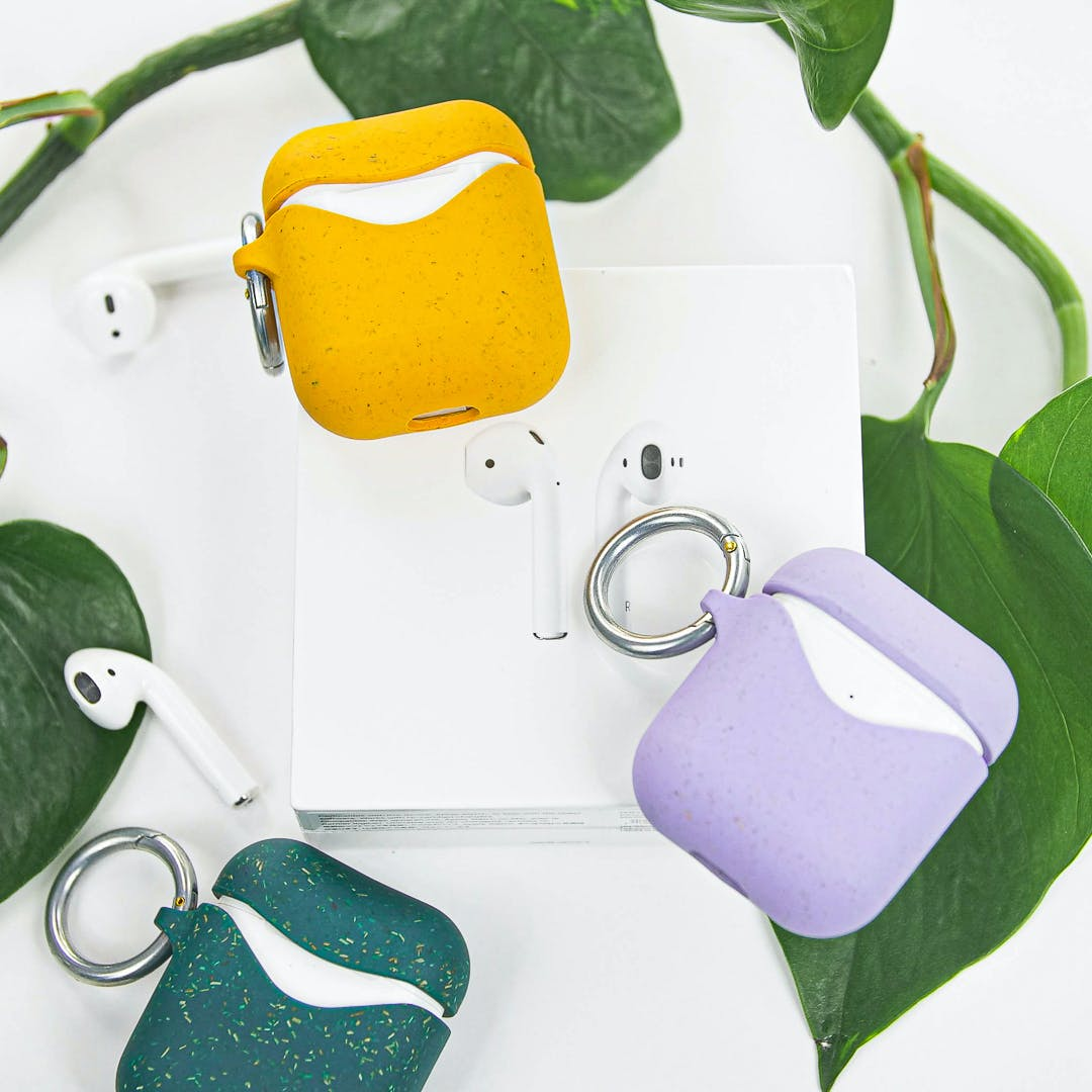 Pela biodegradable eco-friendly AirPods cases