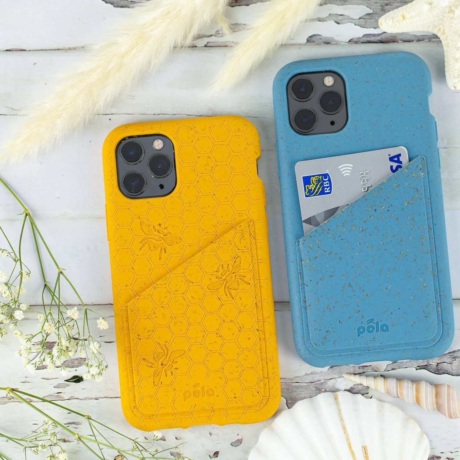 Biodegradable eco-friendly Pela wallet phone cases