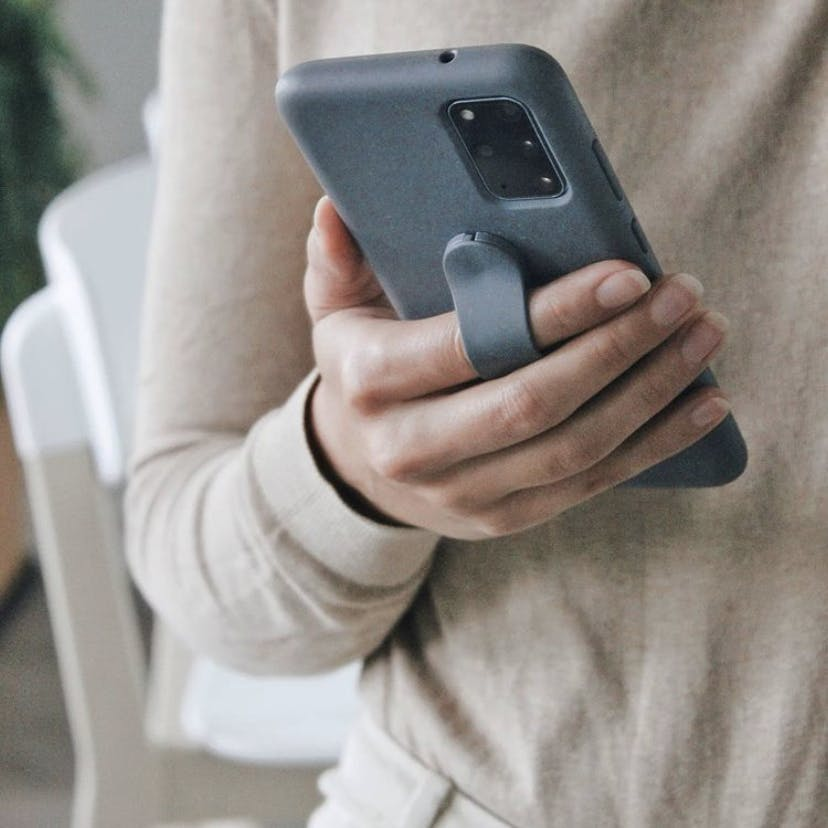 Biodegradable eco-friendly Pela phone case and Pela grip