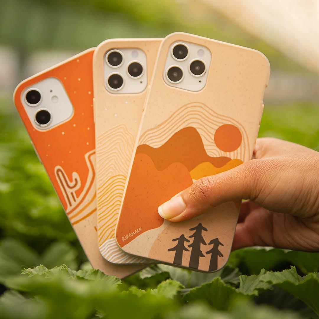 Kika Macfarlane Earth Month collection biodegradable eco-friendly Pela phone cases