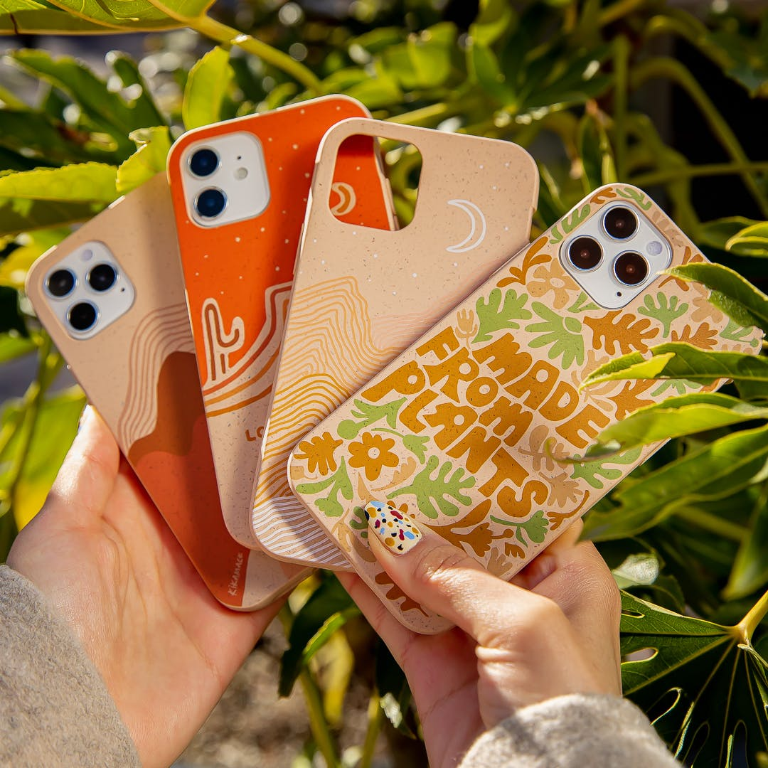 Earth Month collection biodegradable eco-friendly Pela phone cases