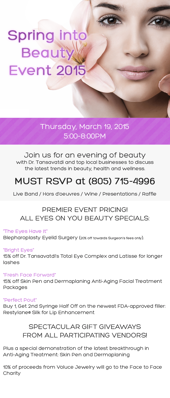Spring into Beauty Event 2015! (March 19, 2015)