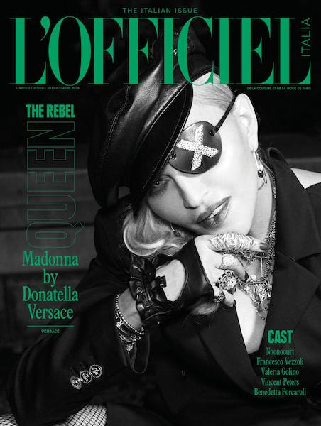Madonna by Donatella Versace for L'Officiel