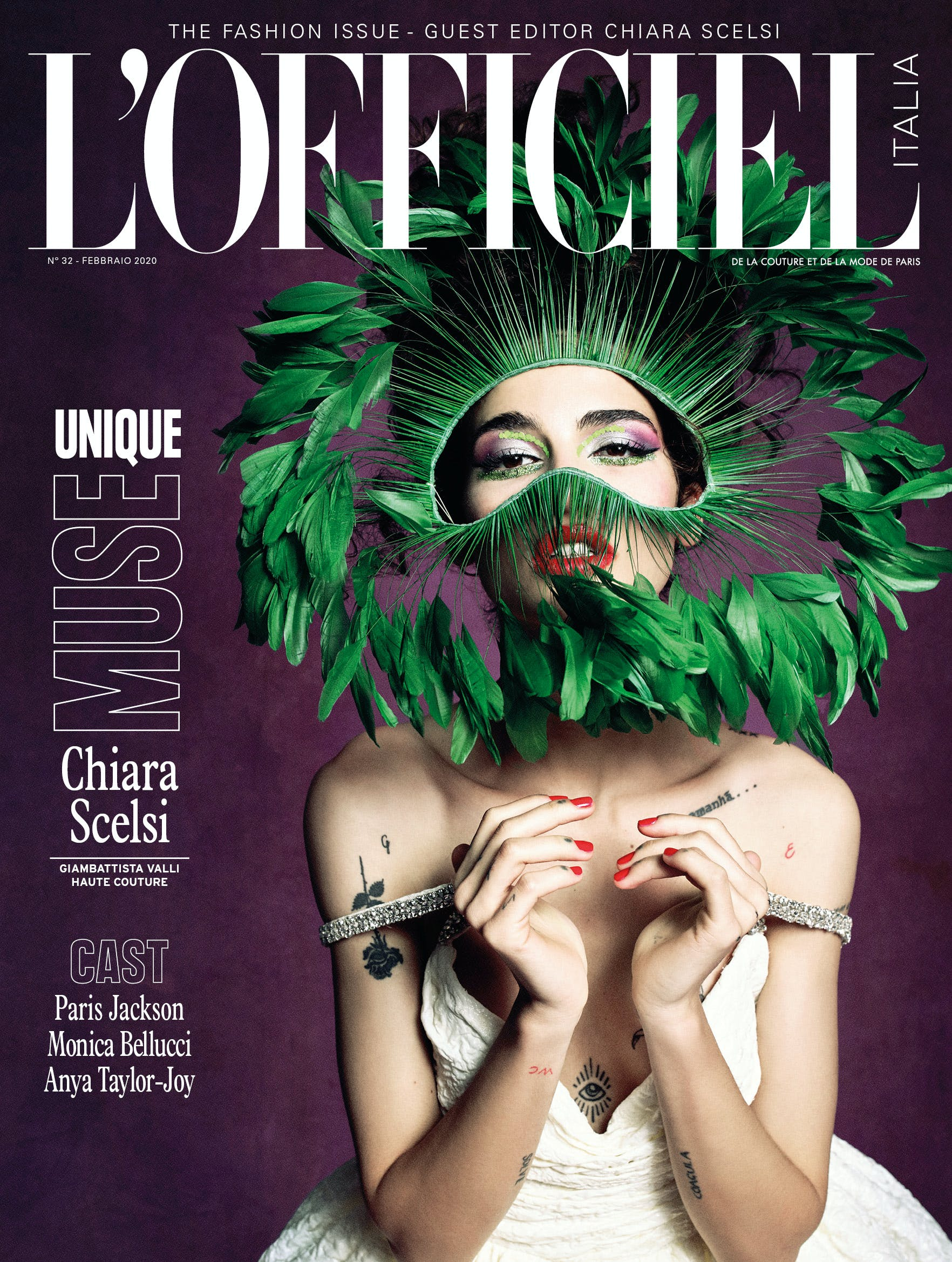 L'Officiel Italia N° 32 - In cover Chiara Scelsi, Monica Bellucci e Paris Jackson