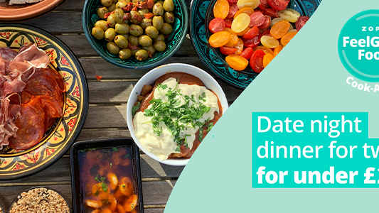 Featured image for FeelGood Cook-Along:  Date night dinner for 2 for under £20