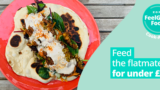 Featured image for FeelGood Cook-Along: Feed the flatmates falafel for under £8