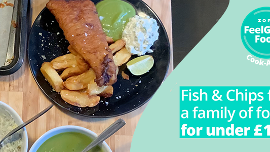 Featured image for FeelGood Cook-Along: Family fish and chips for 4 for £16