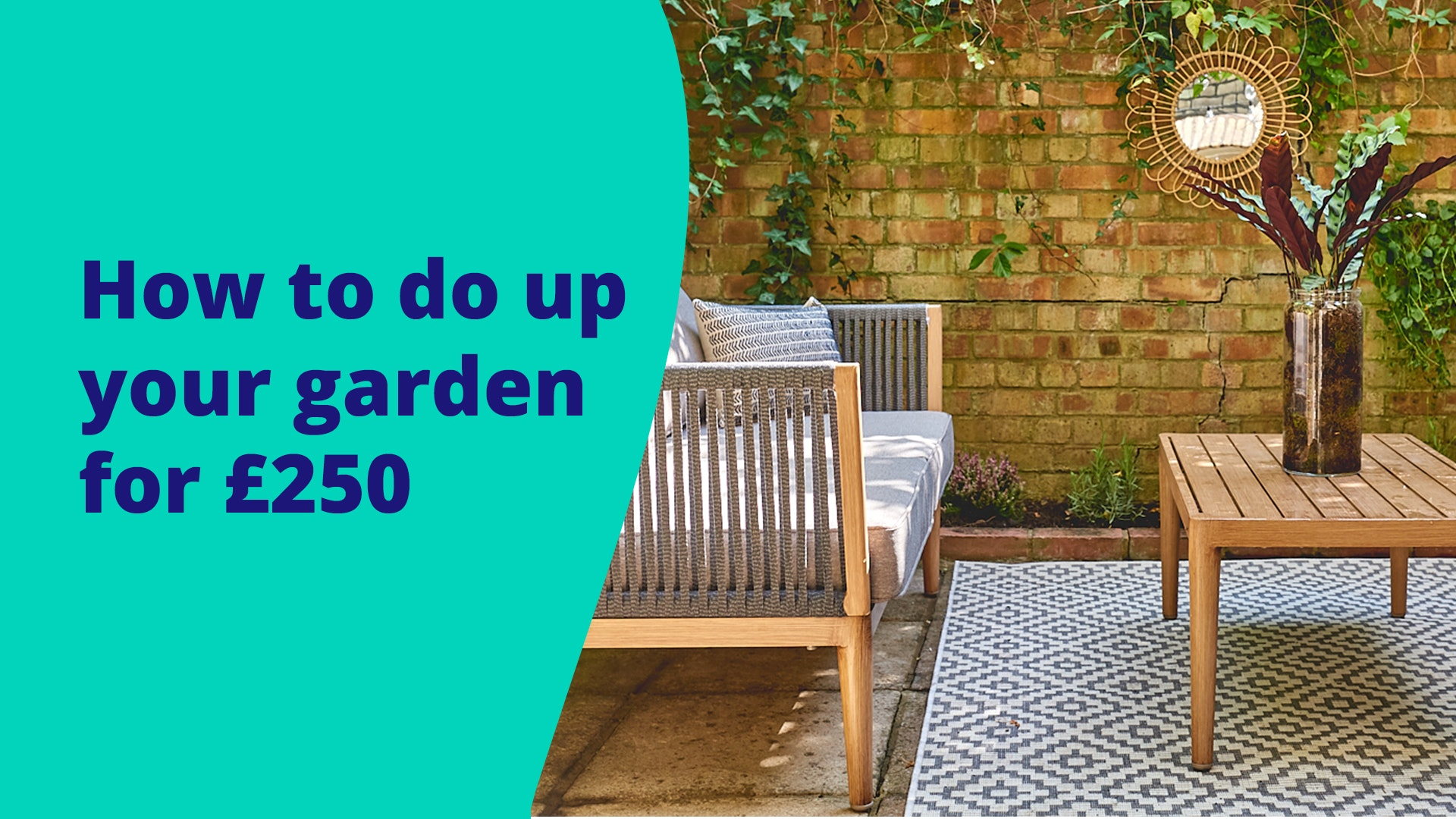 Featured image for Four ways to do up your garden for under £250