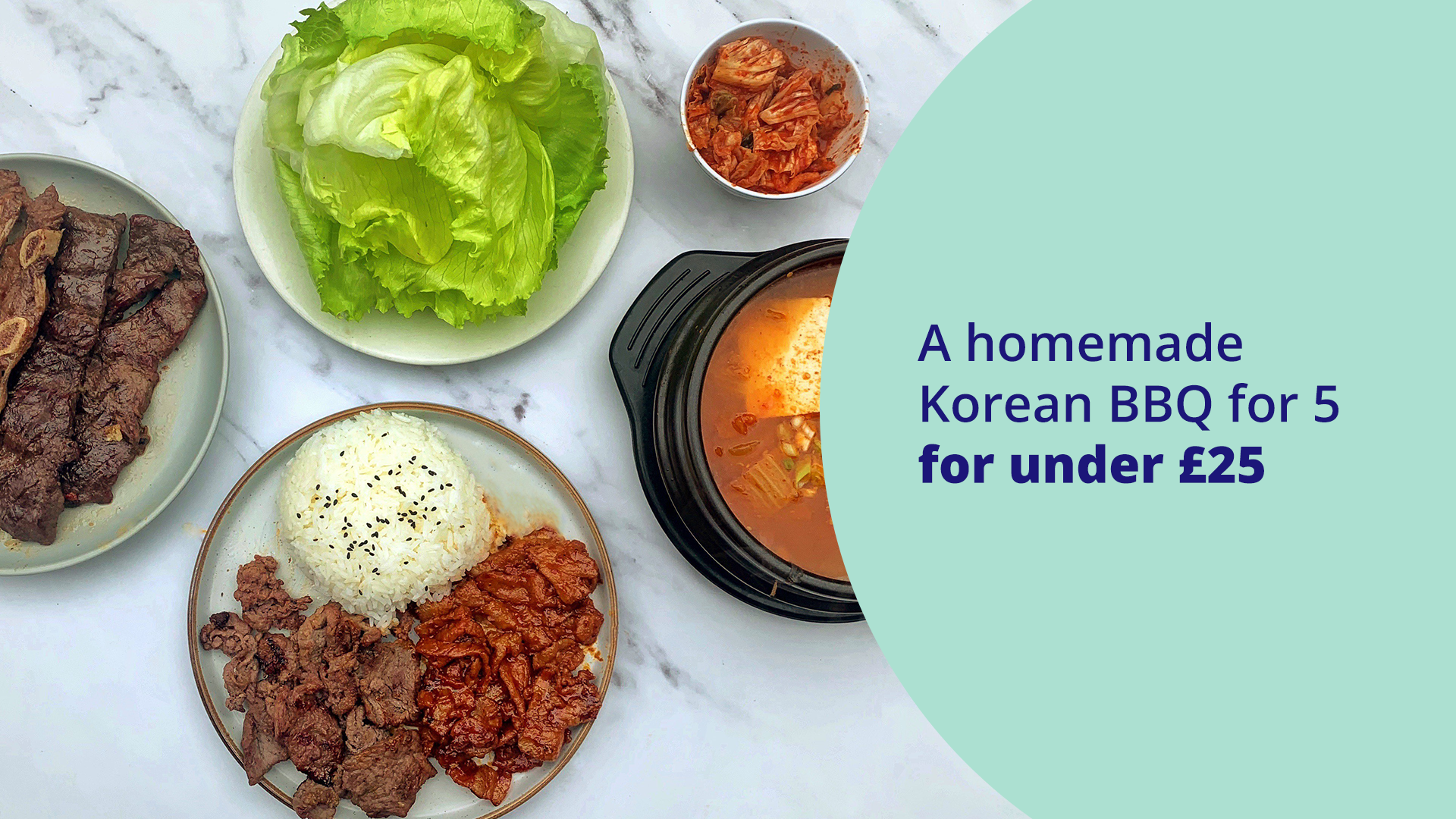 Featured image for A homemade Korean BBQ for 5 for under £25