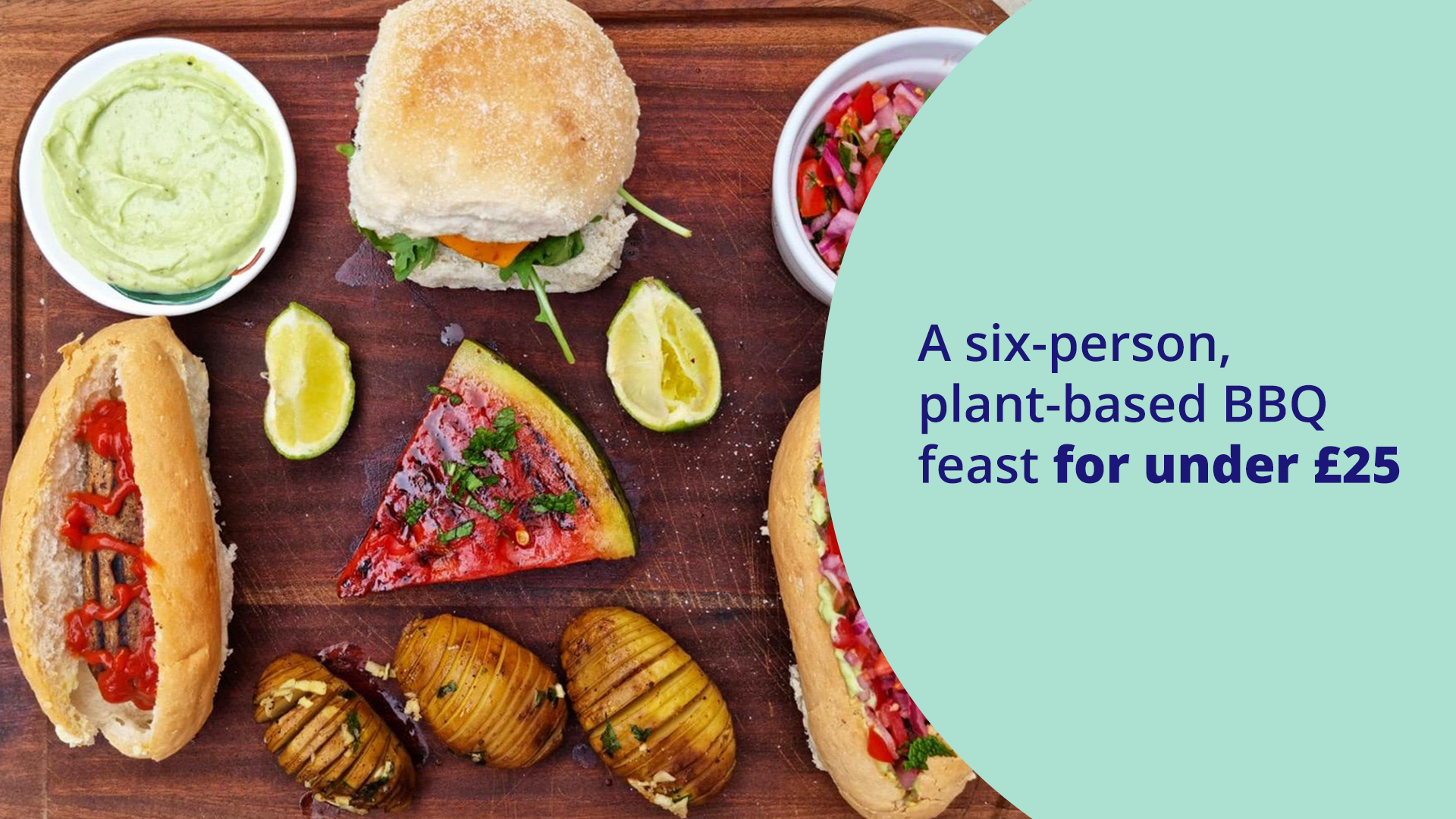 Featured image for A six-person, plant-based BBQ feast for under £25