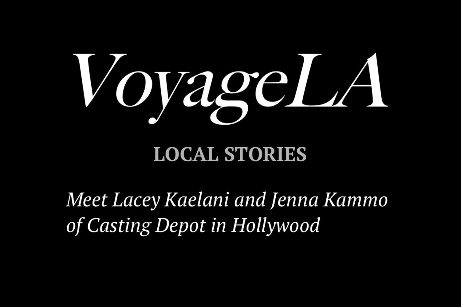 Cover Image for VoyageLA Local Stories