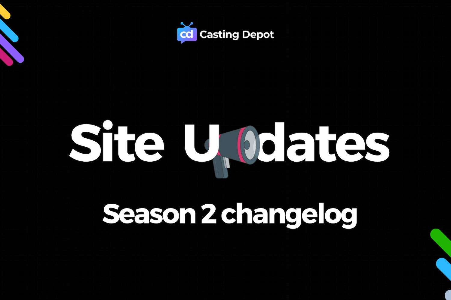 Cover Image for Season 2 of Casting Depot Released!