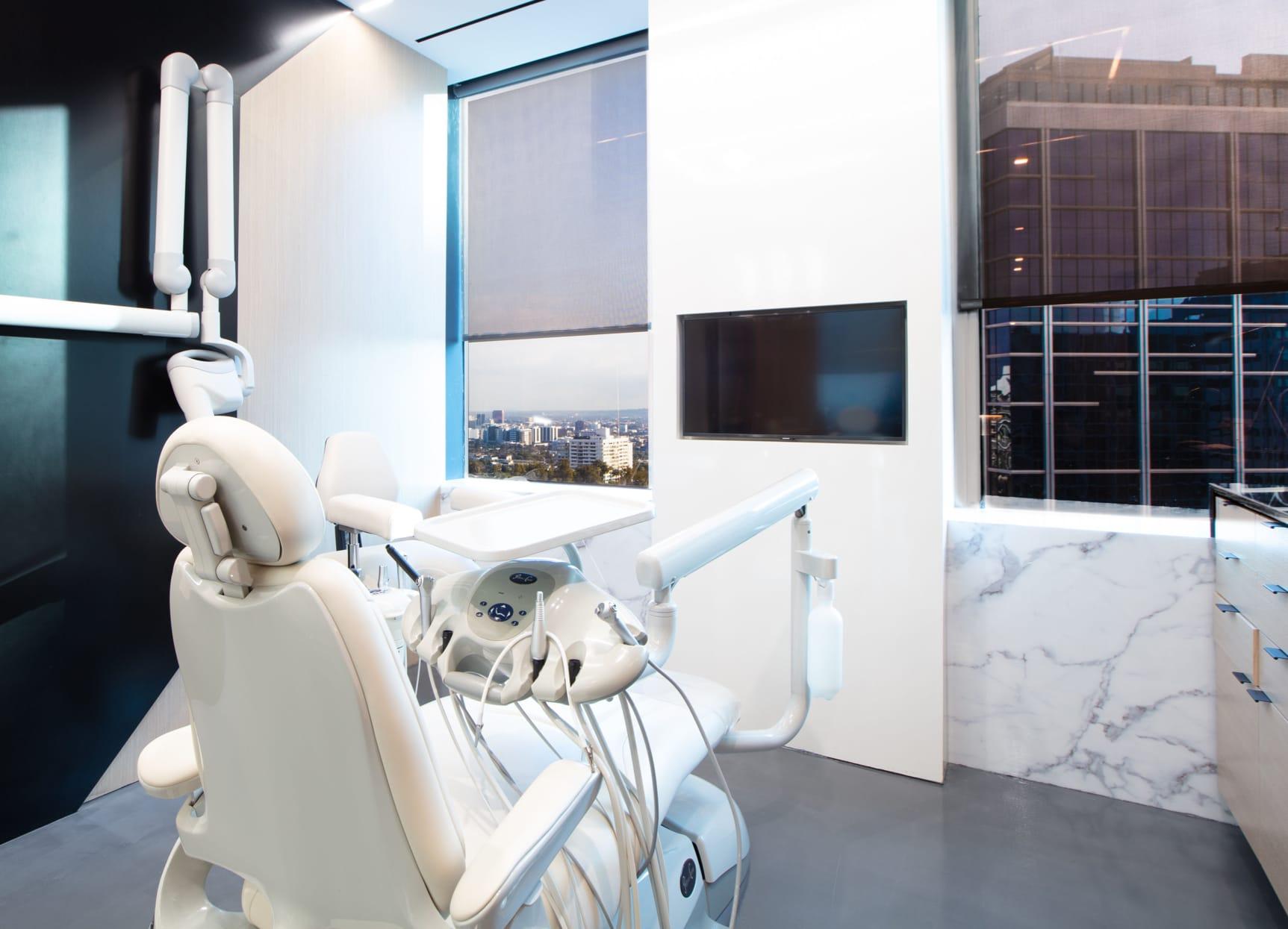 Dental chair - clean, modern and bright.