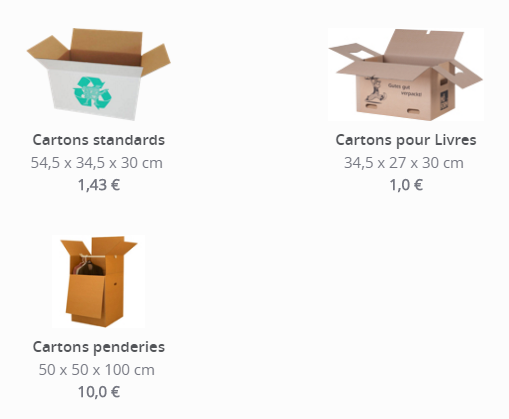 cartons déménagement Movinga