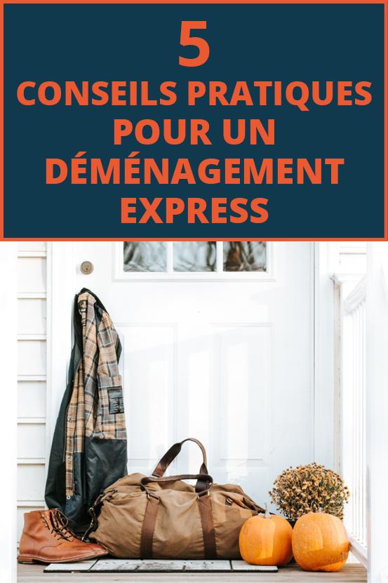 5 #conseils pratiques pour un #déménagement express ! Partagez si cette image vous plait ! #conseildéménagement