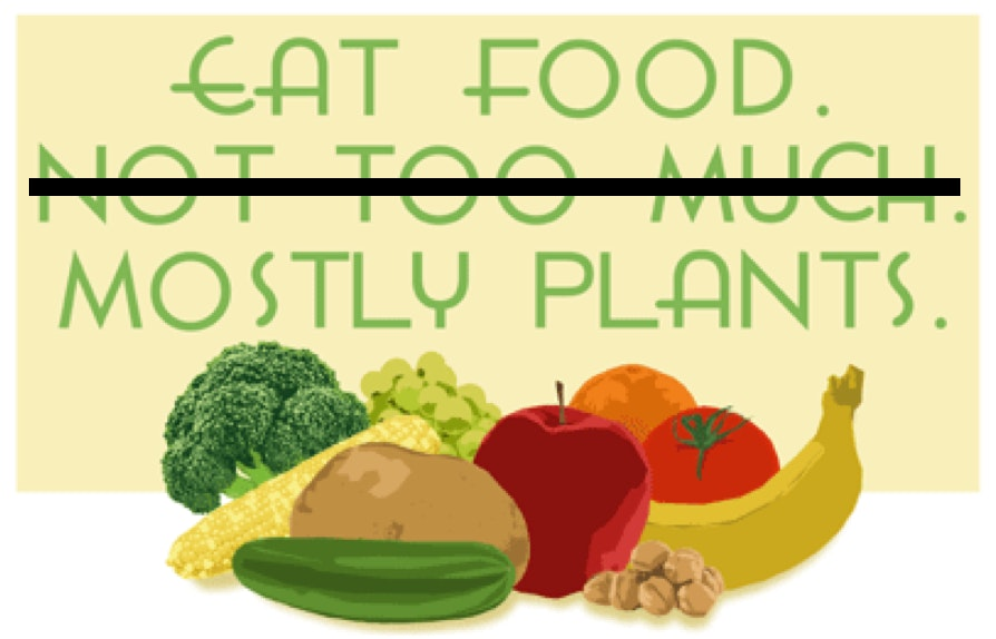 Healthy food: Real food, mostly plants