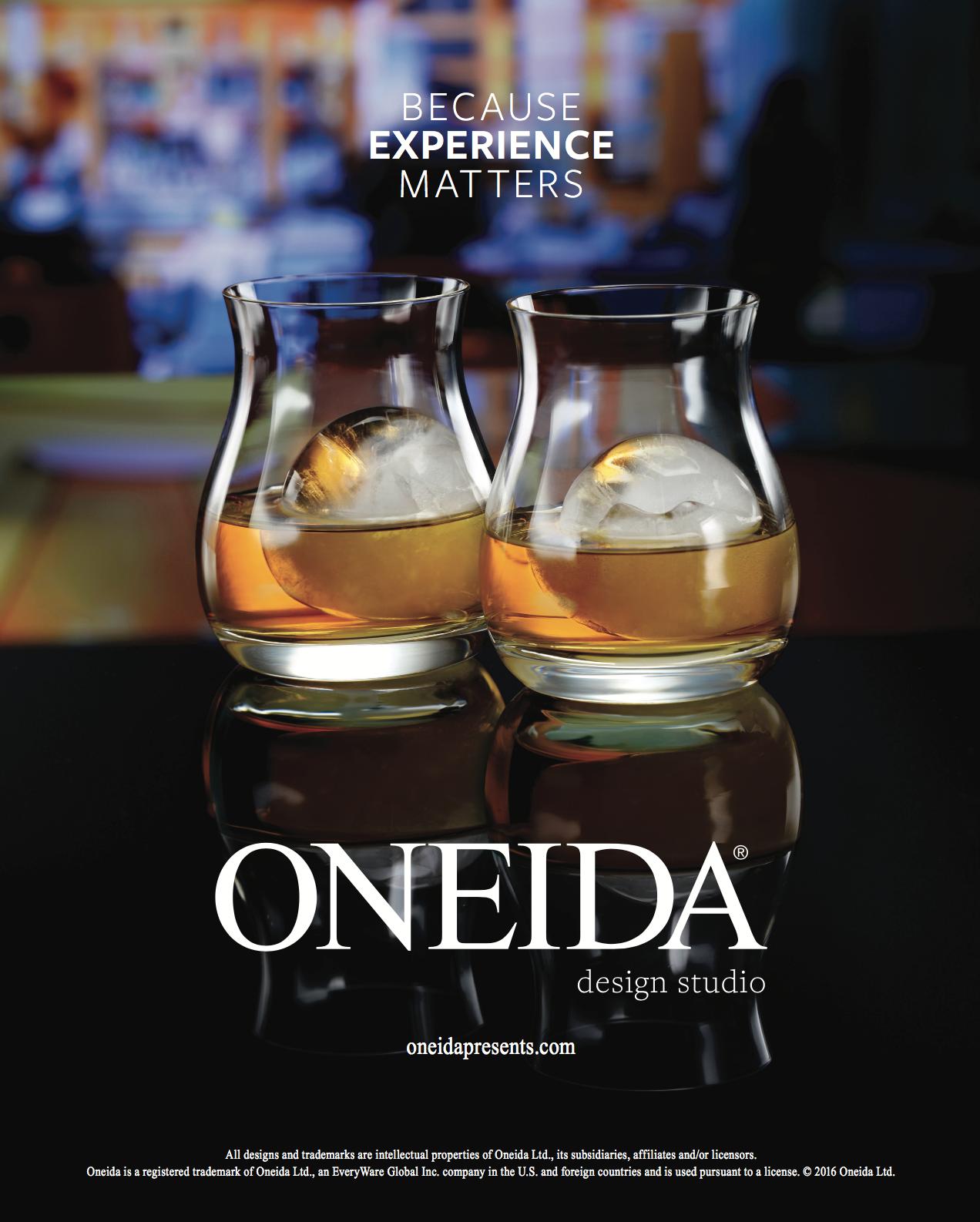 Cocktails in oneida glasses