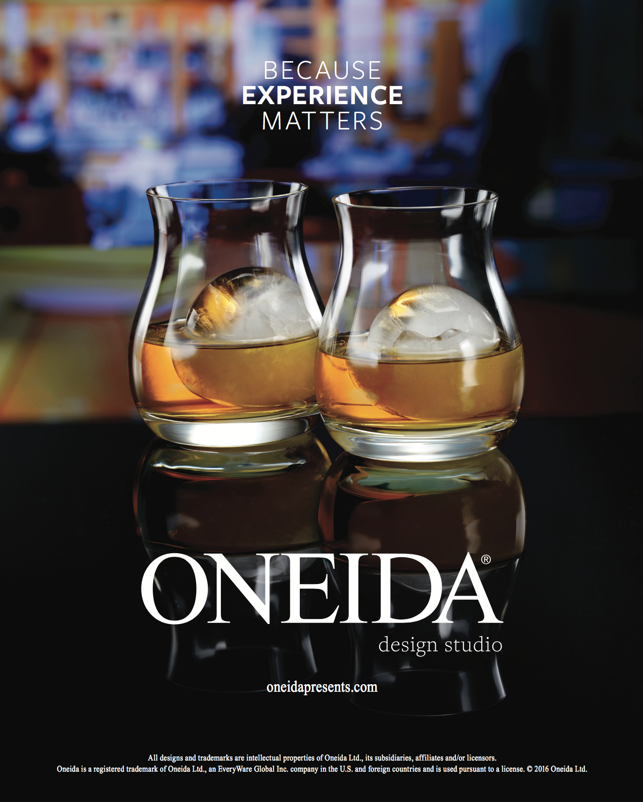 Cocktails in oneida glasses