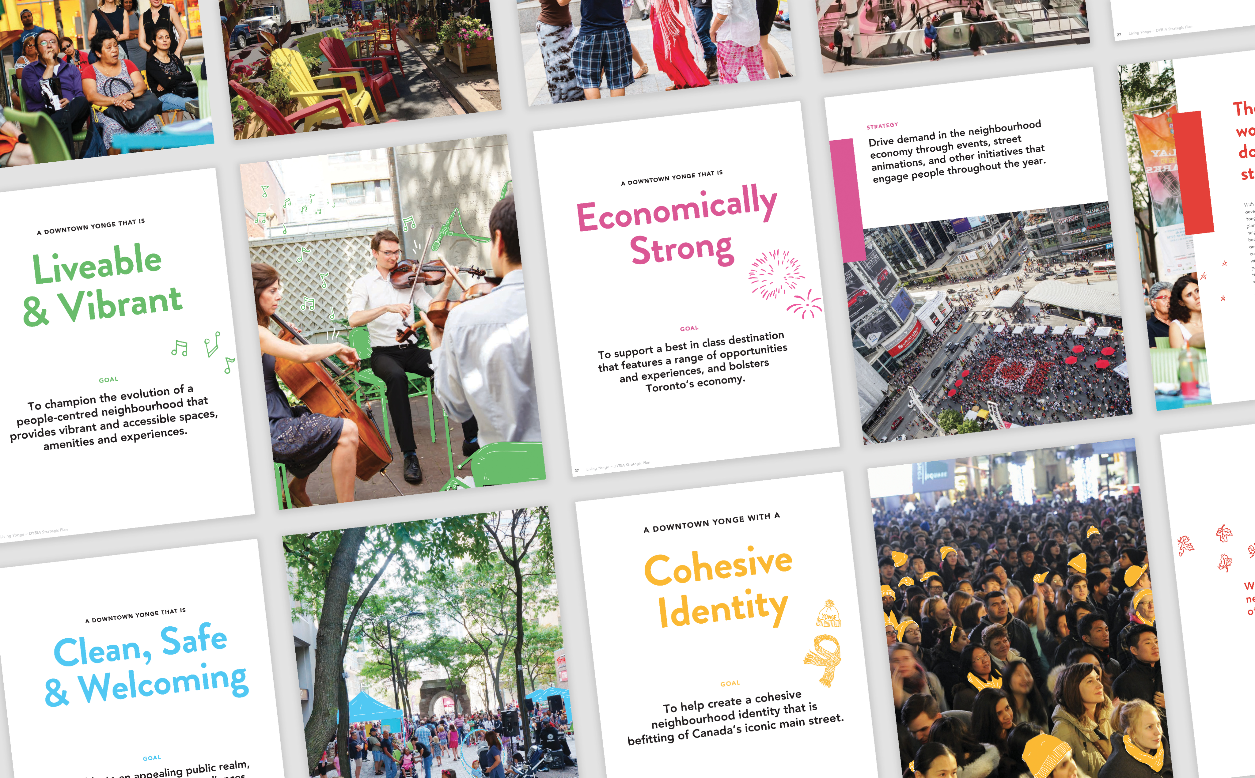 Excerpted pages from the Living Yonge report