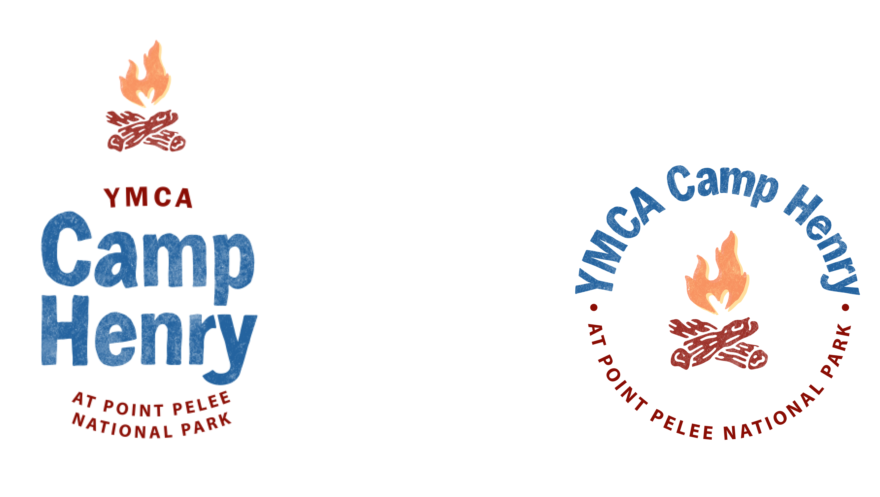 Camp Henry logo designs