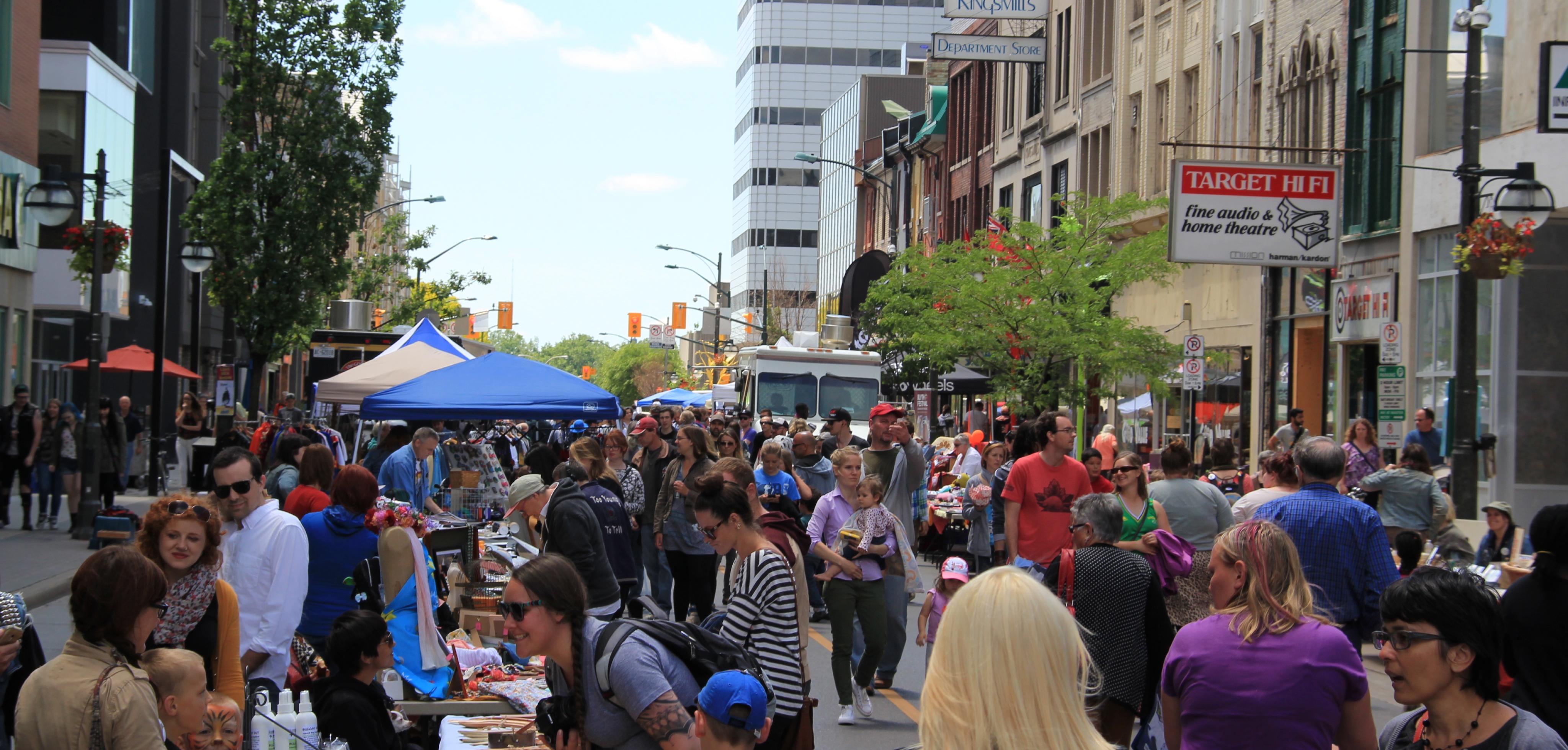 Londoners enjoying the Dundas Street Festival