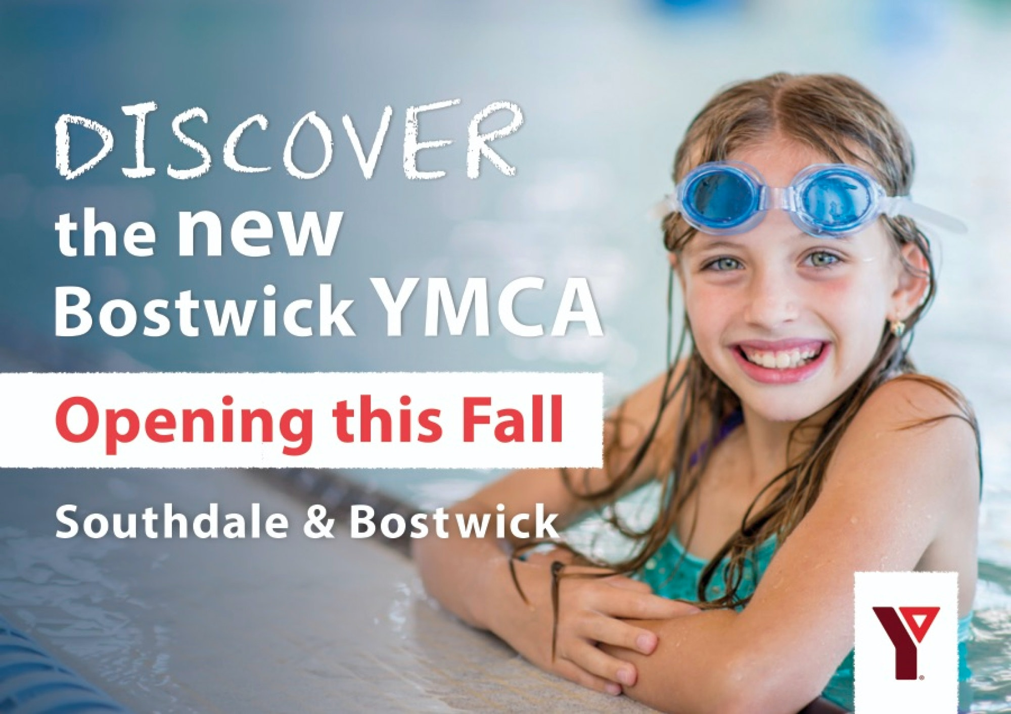 A postcard advertising the new Bostwick YMCA